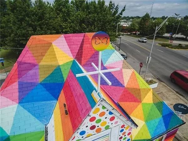 Rainbow Church by Okuda san miguel