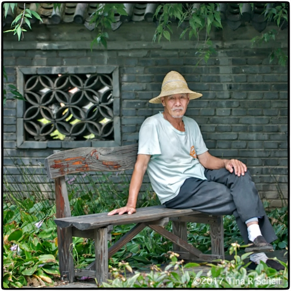 OLD MAN AT THE WALL, CHINA